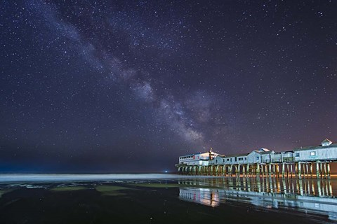 Framed Pier in the Stars Print