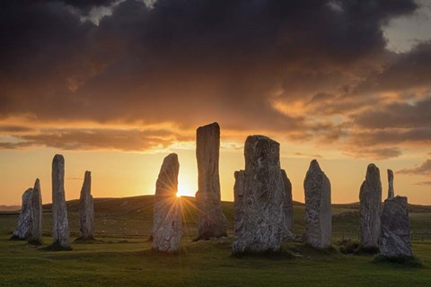Framed Last Light on Callanish Print
