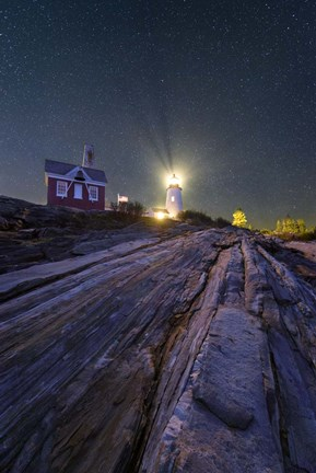 Framed Pemaquid Stars Print