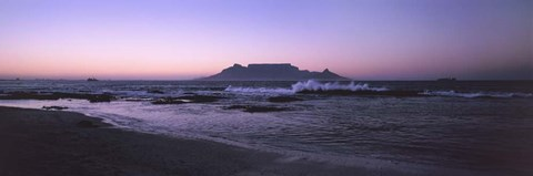 Framed Blouberg Beach at Sunset, Cape Town, South Africa Print