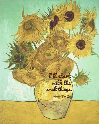 Framed Small Things - Van Gogh Quote 1 Print
