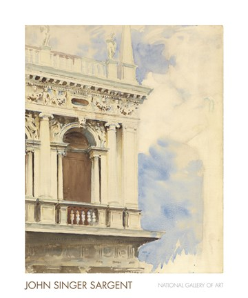 Framed Corner of the Library in Venice, 1904/07 Print