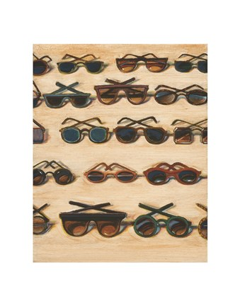 Framed Five Rows of Sunglasses, 2000 Print