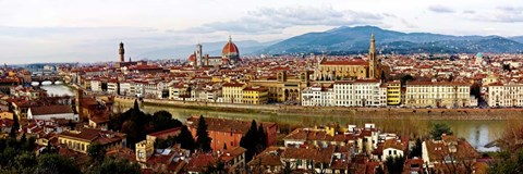 Framed Panoramic View of Florence Print