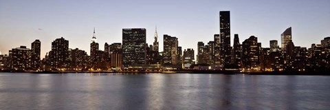 Framed Midtown Manhattan Skyline, NYC 2 Print