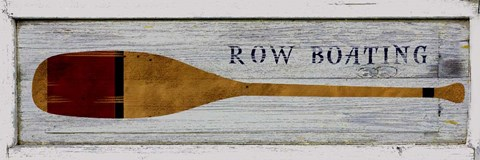 Framed Row Boating Print