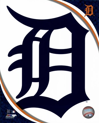 Framed 2016 Detroit Tigers Team Logo Print