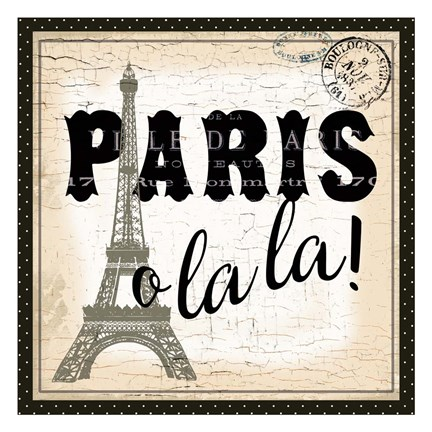Framed Paris Ooh La la Print