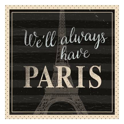 Framed Always Paris Dots Print