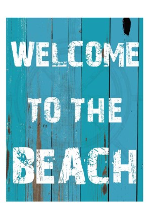 Framed Welcome To The Beach Print