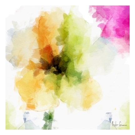 Framed Watercolor Floral II Print