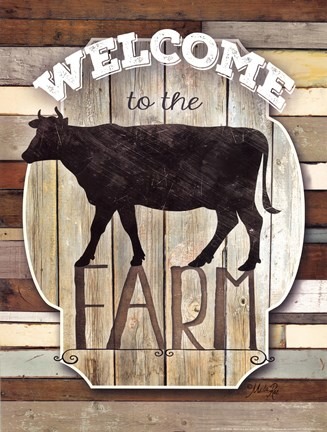 Framed Welcome To The Farm Print