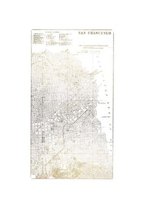 Gold Foil City Map San Francisco Metallic Foil Fine Art Print by