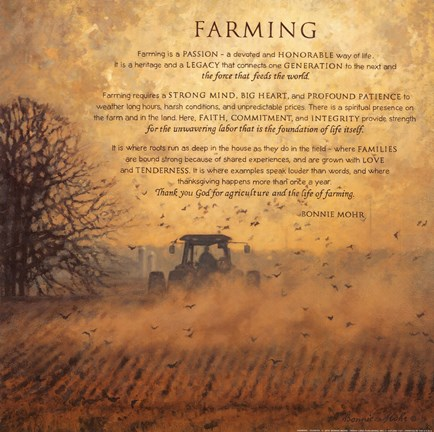 Framed Farming Print