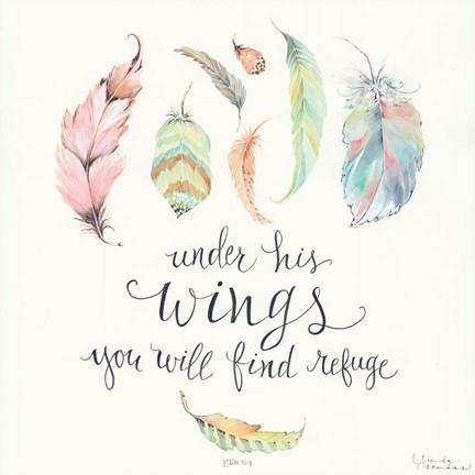 Under His Wings Fine Art Print By Linda Arandas At