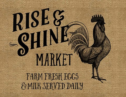 Framed Rise And Shine Market Print