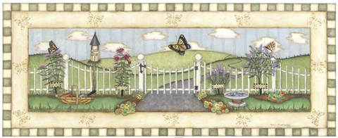 Framed Butterfly Fence Print