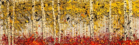 Framed Fall Panoraspen Print