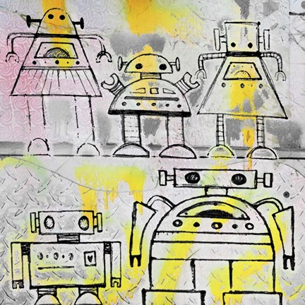 Framed Robot Family Print