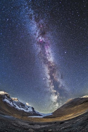 Milky Way Over The Columbia Icefields In Jasper National