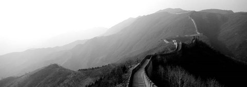 Framed High angle view of the Great Wall Of China, Mutianyu, China Print