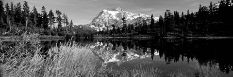 Framed Mt Shuksan and Picture Lake, North Cascades National Park, Washington State Print