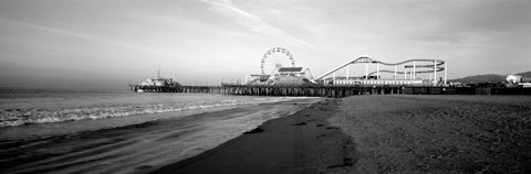 Framed Santa Monica Pier, California Print