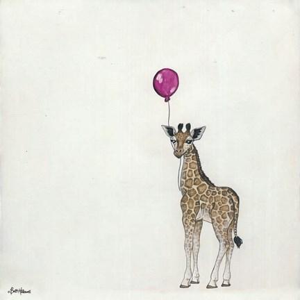 Framed nursery giraffe ii print