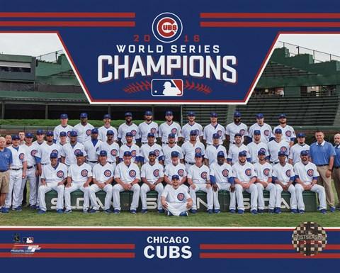 201bcf94ca2 Chicago Cubs 2016 World Series Champions Team Sit Down Fine Art ...