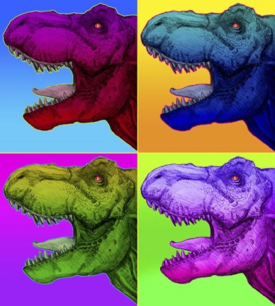 Pop Art Dinosaurs 1 Fine Art Print By Howie Green At