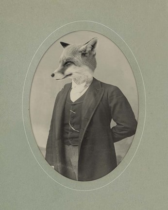 Framed Gentleman Fox Print