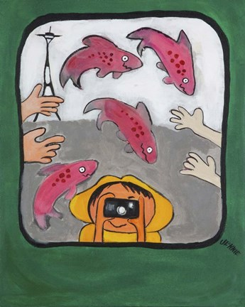 Framed Smile Seattle Print