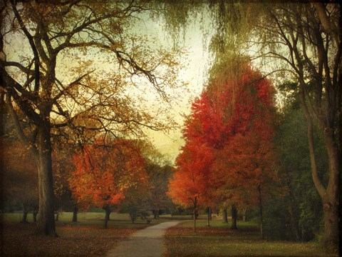 Framed Autumn Promenade Print