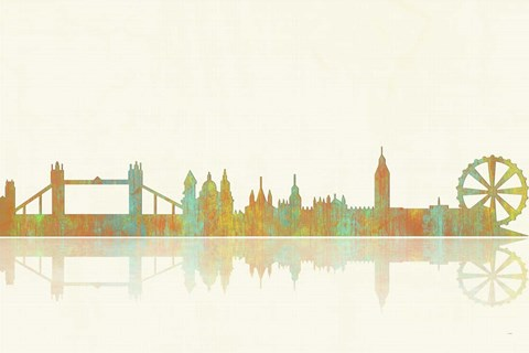 Framed London GB Skyline 1 Print