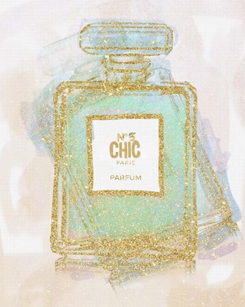 Framed Chic Bottle 2 Print