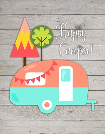 Framed Happy Camper II Print
