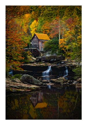 Framed Glade Creek Mill Print