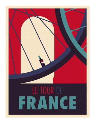 Framed Tour de France Print