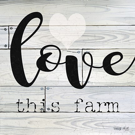 Framed Love This Farm Print