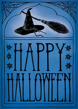 Vintage Halloween Happy Halloween Fine Art Print By Sara