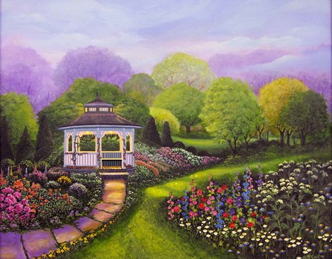 Gazebo Park Fine Art Print By Bonnie B Cook At