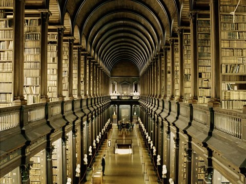 Framed Interior of the Library, Trinity College, Dublin Print