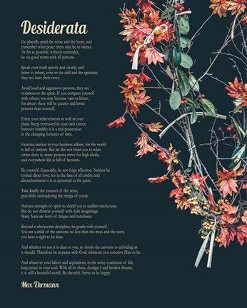 Framed Desiderata Autumn Branches Print