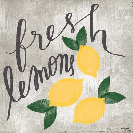 Framed Fresh Lemons Print