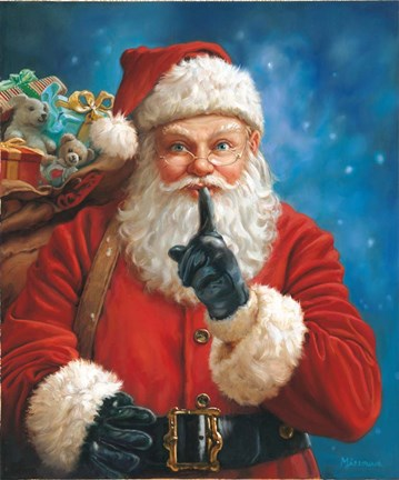 Shh Santa Fine Art Print By Mark Missman At Fulcrumgallery Com