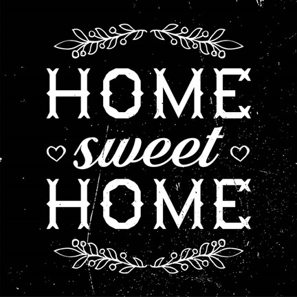 Framed Home Sweet Home-Black Print