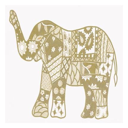 Elephant Gold Fine Art Print by Pam Varacek at FulcrumGallery.com