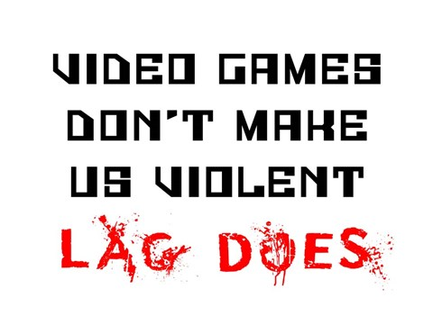 Framed Video Games Don't Make us Violent - White Print