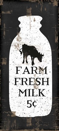 Framed Farmhouse Milk Bottle Print