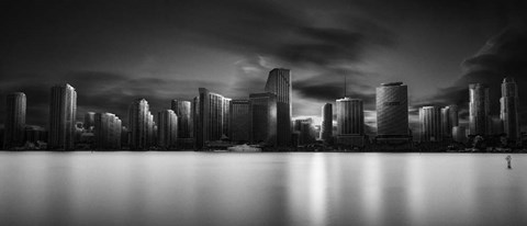 Framed Miami Skyline Print